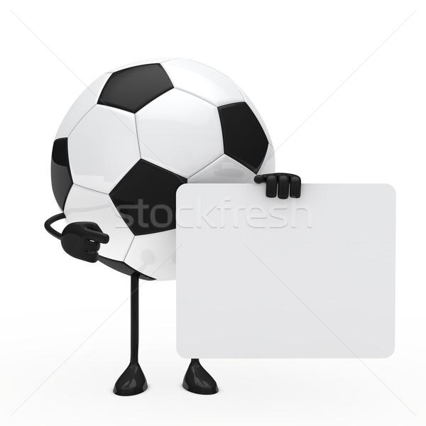 football figure hold billboard Stock photo © dariusl