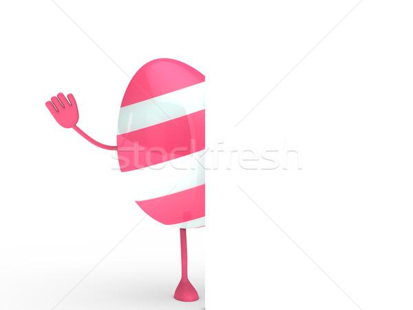 pink egg wave hand Stock photo © dariusl