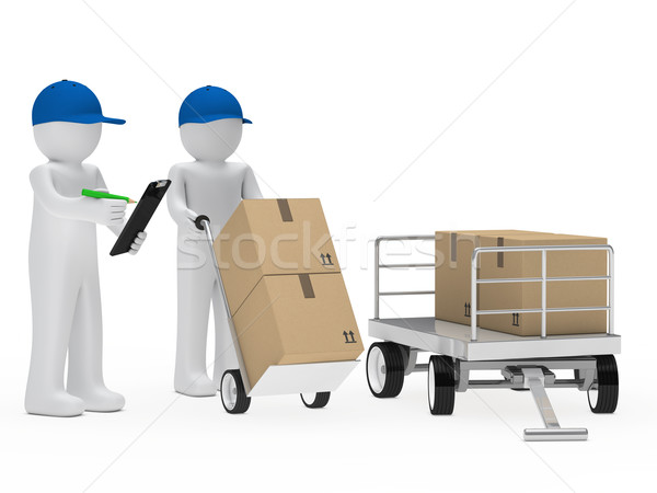 courier figure trolley Stock photo © dariusl