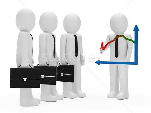 businessman graph down Stock photo © dariusl