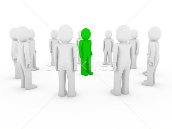 Cerchio verde bianco lavoro di squadra Foto d'archivio © dariusl