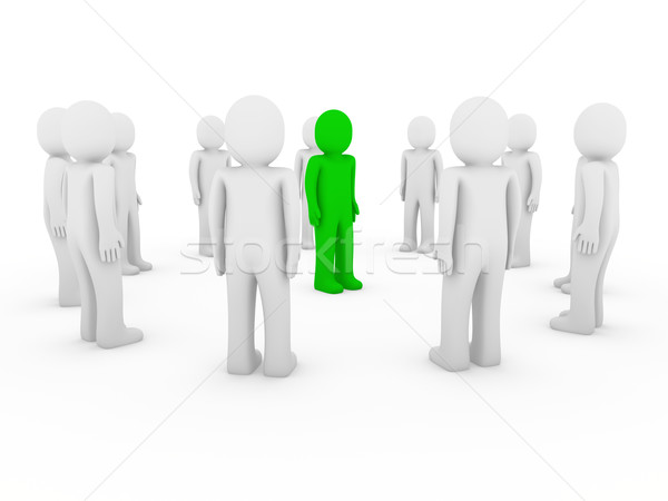 3d human circle green white Stock photo © dariusl