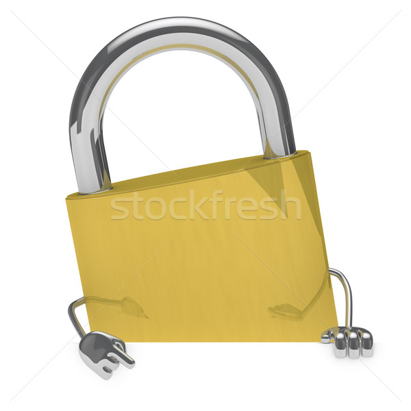 lock figure Stock photo © dariusl