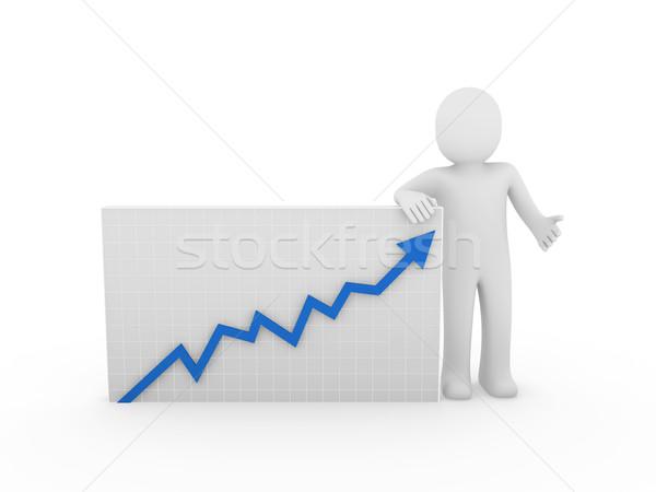 3d human arrow growth Stock photo © dariusl