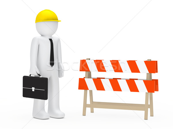 businessman barrier Stock photo © dariusl