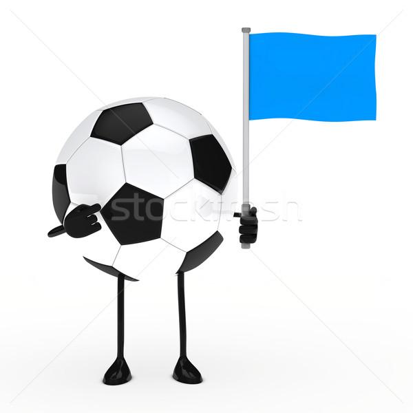 football figure with flag Stock photo © dariusl