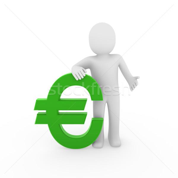 3d human euro Stock photo © dariusl