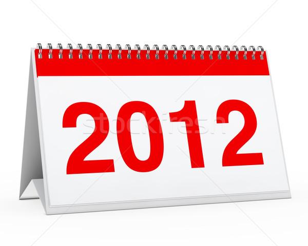 2012 vermelho ano branco negócio escritório Foto stock © dariusl