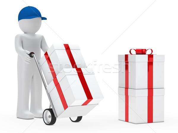 Alkat ellátó lökés kéz teherautó ajándékok Stock fotó © dariusl