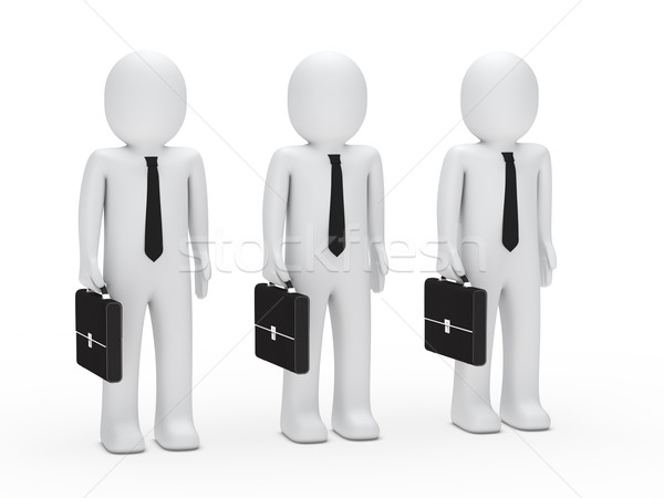 Hombres de negocios empate maletín negocios manos hombre Foto stock © dariusl