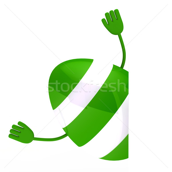green easter egg wave hands Stock photo © dariusl