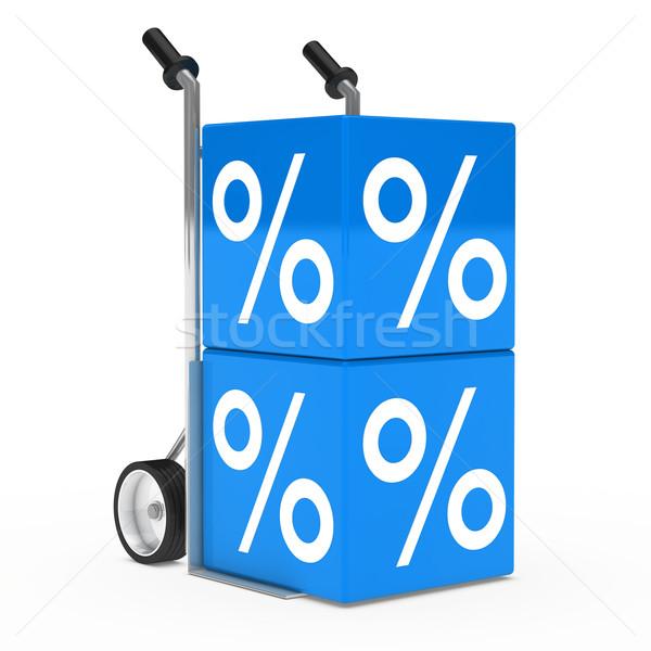 hand truck sale cube Stock photo © dariusl