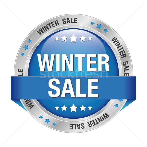 sale winter blue silver button Stock photo © dariusl