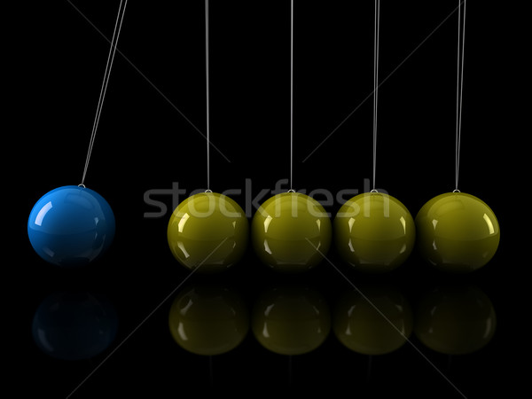 3d yellow blue pendulum Stock photo © dariusl