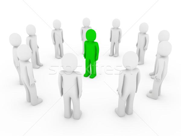 3d human circle green Stock photo © dariusl