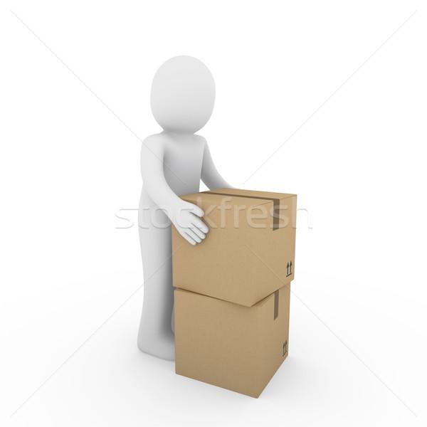 Stok fotoğraf: Paket · nakliye · kutu · göndermek