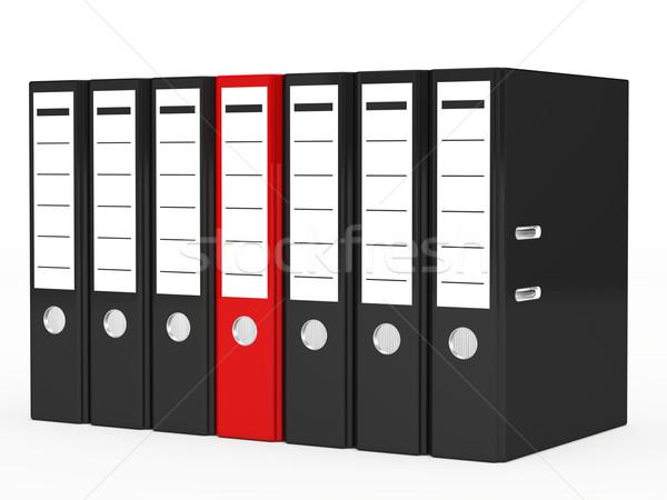 Negocios carpeta uno rojo negro archivo Foto stock © dariusl