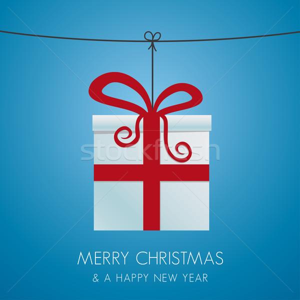 christmas gift hanging on a twine Stock photo © dariusl