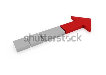 3d red arrow right Stock photo © dariusl