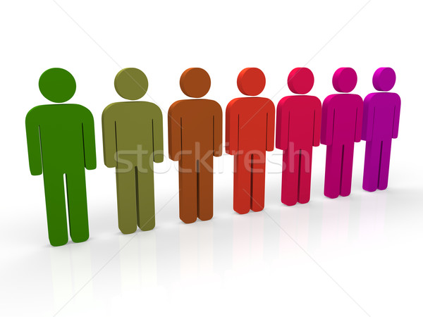 3d people group Stock photo © dariusl