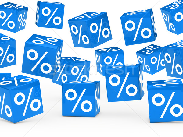blue sale percent cubes  Stock photo © dariusl