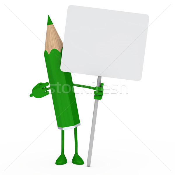 green pencil billboard Stock photo © dariusl