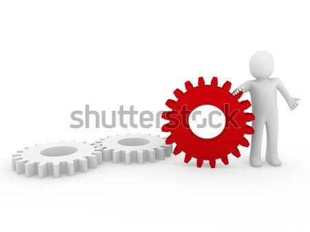 Narzędzi czerwony biały działalności odizolowany Zdjęcia stock © dariusl