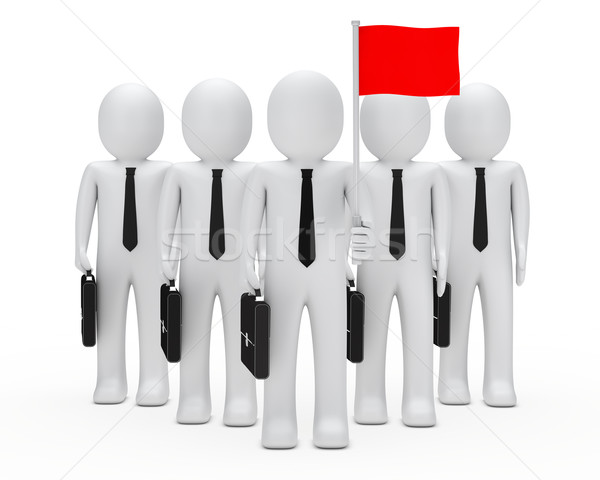 business men team hold flag Stock photo © dariusl