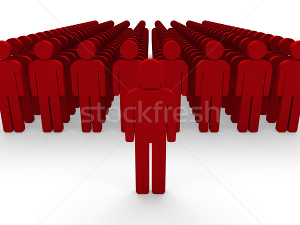3d red team group  Stock photo © dariusl