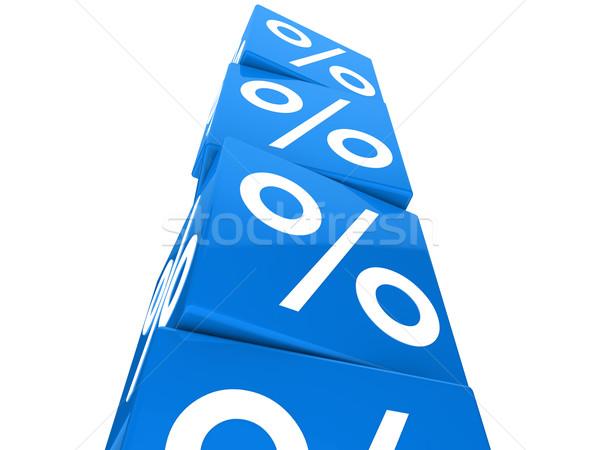 Foto d'archivio: Blu · cubo · torre · molti · vendita · cento