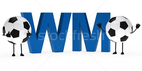 football figure wm Stock photo © dariusl