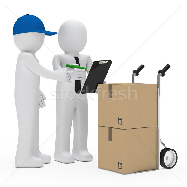 courier bring package Stock photo © dariusl