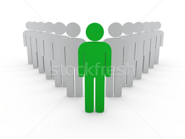 3D chef d'équipe patron société vert travail d'équipe Photo stock © dariusl