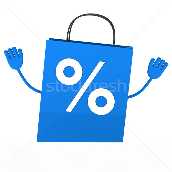 Blue sale percent bag wave  Stock photo © dariusl