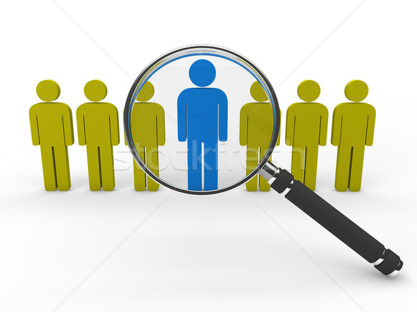 3d magnifying glass team  Stock photo © dariusl