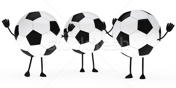 football figure wave hands Stock photo © dariusl