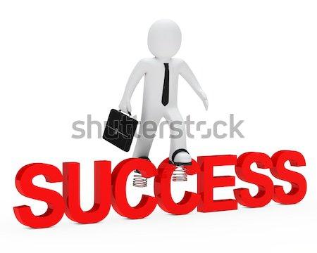 business man jump Stock photo © dariusl