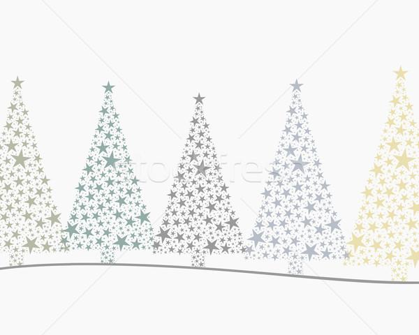 5 christmas trees colorful  Stock photo © dariusl