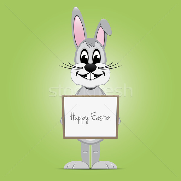 Easter bunny bahar ahşap tavşan tavşan Stok fotoğraf © dariusl