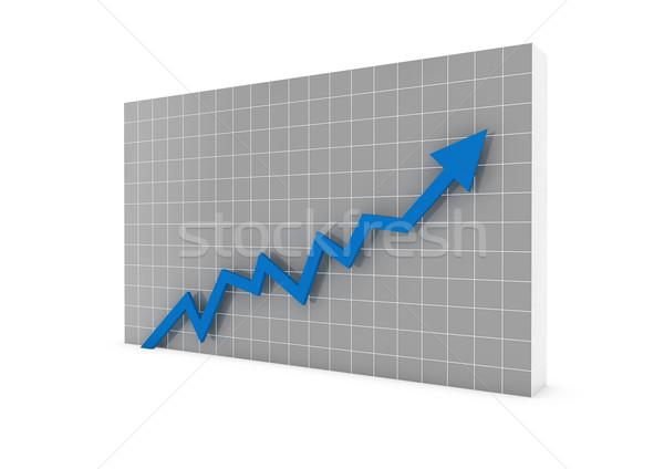 Zdjęcia stock: 3D · wykres · arrow · niebieski · wysoki · odizolowany