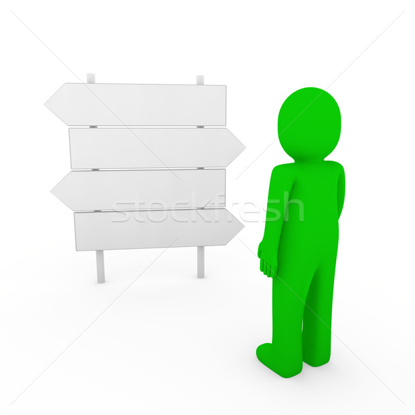 Groene richting pijl teken manier Stockfoto © dariusl
