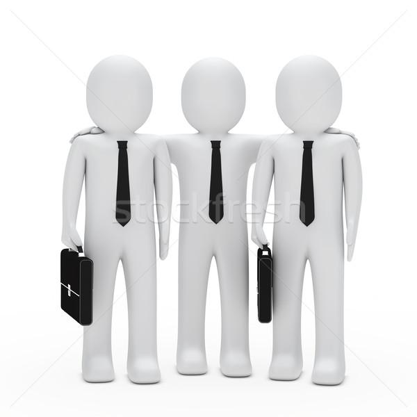 ビジネスマン チームワーク 黒 ブリーフケース ネクタイ 作業 ストックフォト © dariusl