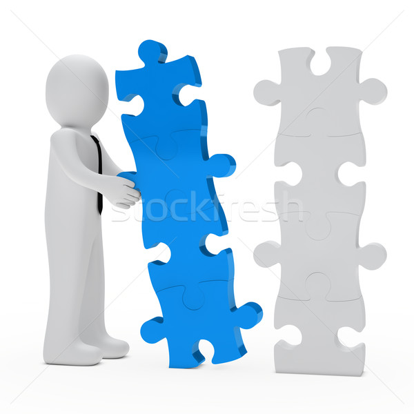 businessman puzzle Stock photo © dariusl