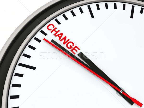 3d clock time change Stock photo © dariusl