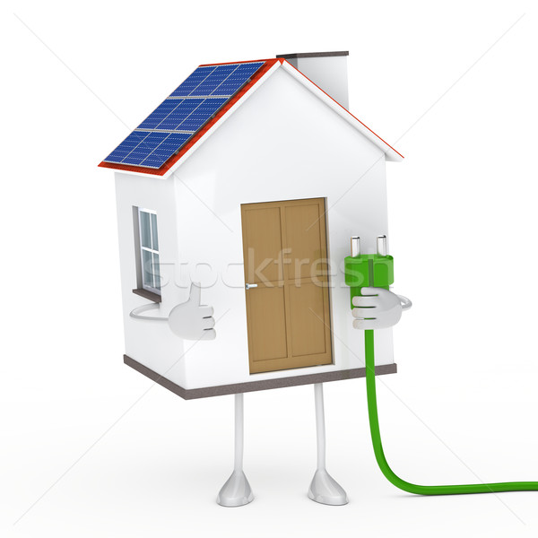 solar house figure Stock photo © dariusl