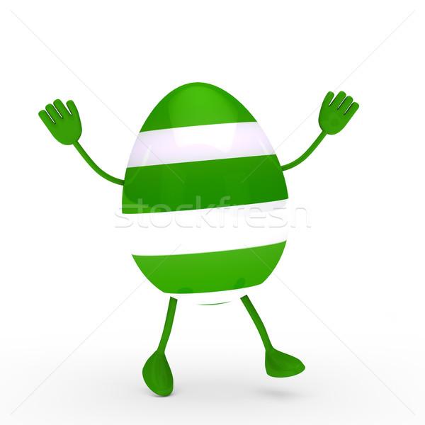 Green egg go and wave Stock photo © dariusl