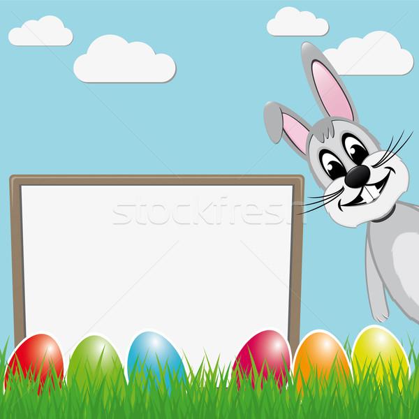 Pascua vacaciones huevos primavera conejo huevo Foto stock © dariusl