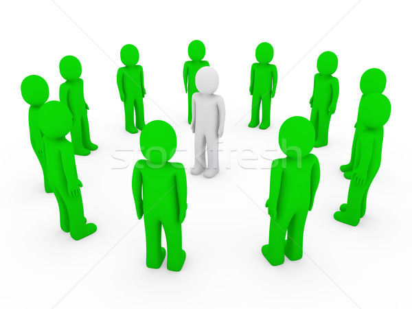 Foto stock: Círculo · verde · blanco · equipo