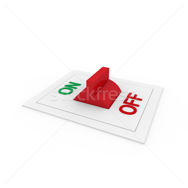 3d switch on off green red  Stock photo © dariusl