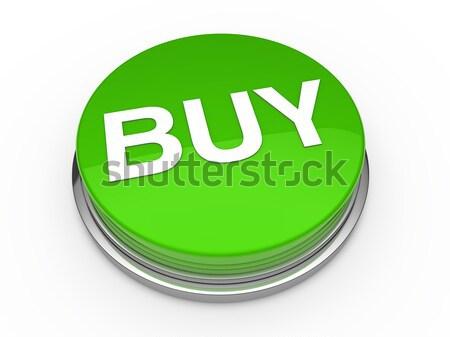 3D кнопки купить зеленый прессы Сток-фото © dariusl